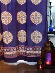 Patterned Duvet Covers Queen Purple Blue Curtain Moroccan Curtain Vintage Curtain