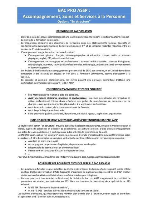 Exemple De Lettre De Motivation Bac Pro Assp Modele Rapport De Stage Bac Pro Assp Document