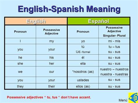 imagenes definition english los adjetivos posesivos ppt descargar