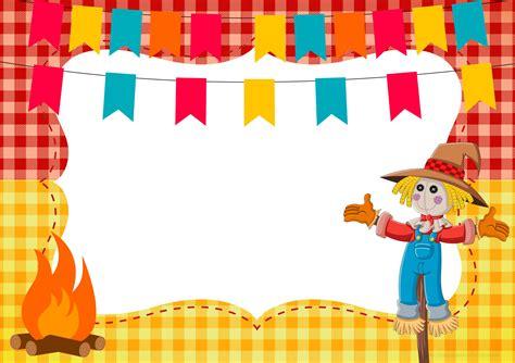 Modelo De Convite Para Festa Photoshop E Arte Convites Convite Ou Moldura Festa Junina Fazendo A Nossa Festa