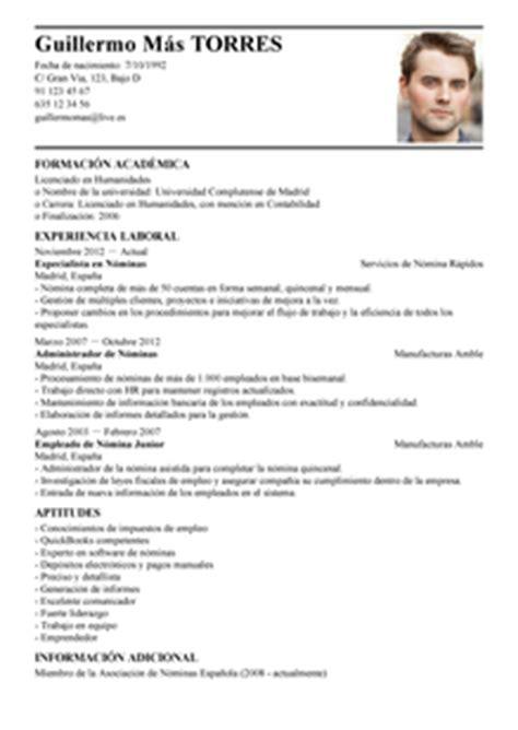 Modelo Curriculum Administrativo Contable Modelo De Curr 237 Culum V 237 Tae Especialista De N 243 Minas Especialista De N 243 Minas Cv Plantilla