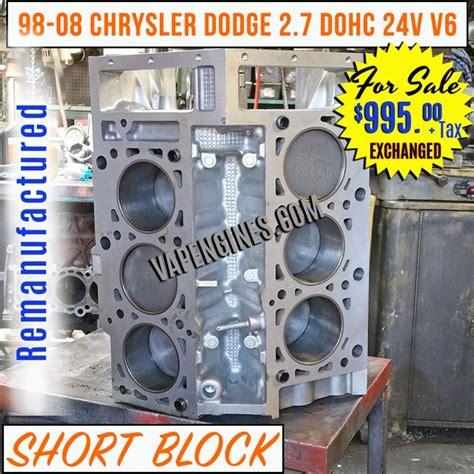 2 7 Chrysler Engine For Sale remanufactured chrysler dodge 2 7 block engine sale