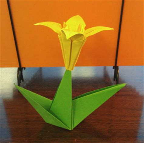 Origami With Stem - origami with stem folding how to make