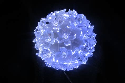 white multi effect snowball christmas light decorations