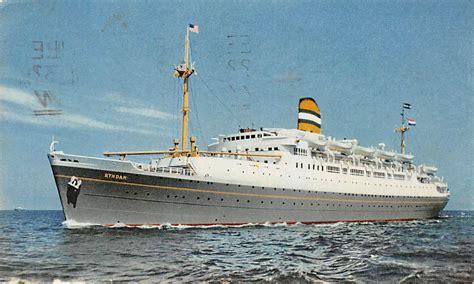 schip holland amerika lijn in rotterdam rotterdam s s ryndam holland amerika lijn stempel
