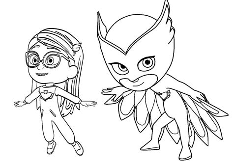 pj masks characters coloring pages owlette pj masks coloring page