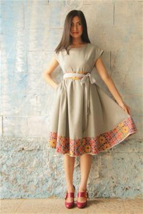 Stelan Kulot Blossom baju batik modern murah model dress batik