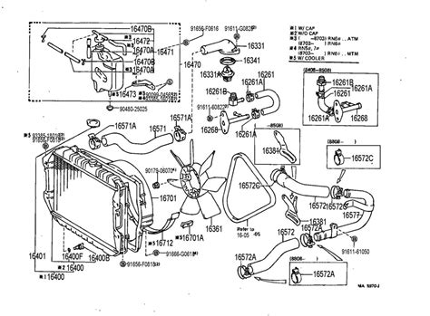 1987 Toyota Parts Catalog Toyota Radiator Water Outlet