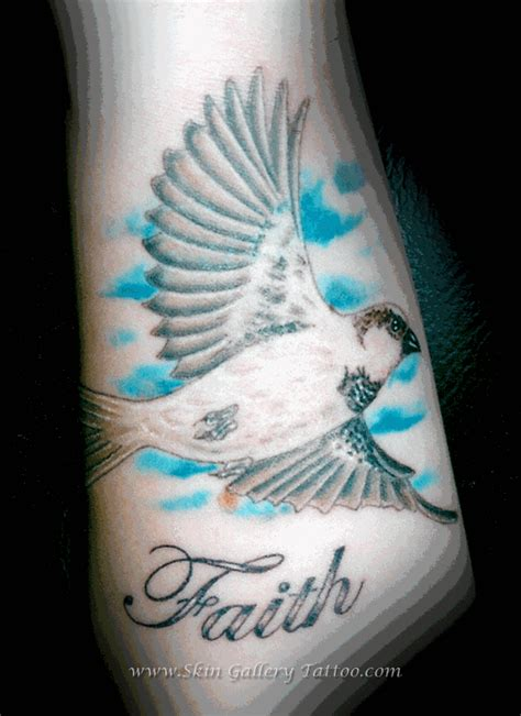 skin gallery tattoo tattoos realistic sparrow bird
