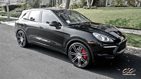 porsche suv 2015 black 2015 cars cec tuning wheels porsche cayenne turbo suv