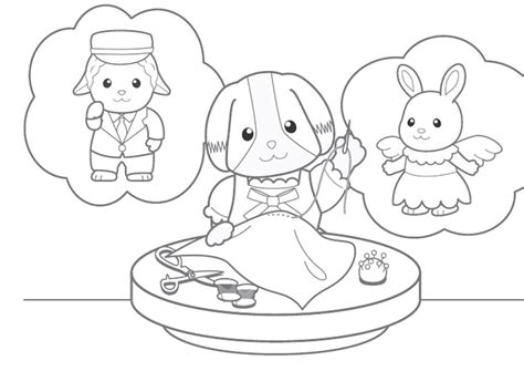 Calico Critters Coloring Pages To Download And Print For Free Calico Critters Coloring Pages