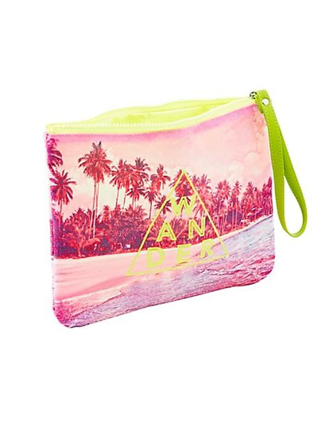 Printed Zip Pouch wander printed zip pouch russe