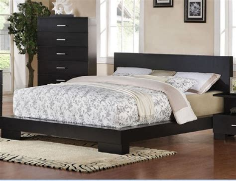 King Bed Bed Acme Furniture Black Finish California King Bed