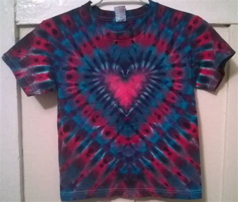 heart pattern tie dye new tie dye youth s alstyle child tshirt blue purple red