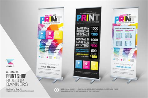 print shop template print shop roll up banner templates templates on