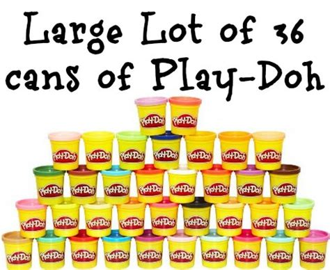 Play Doh Mega Pack 36 Cans large lot of 36 cans of play doh