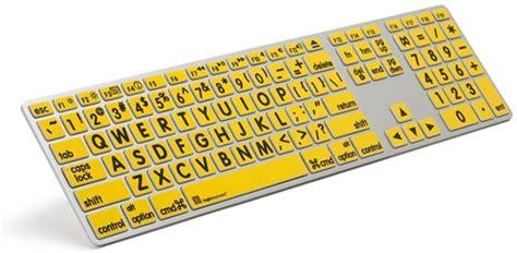 Keyboard Komputer Advance logickeyboard xl print black on yellow apple advance