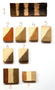 Holzbeize Selber Herstellen by Wood Stain Color Chart Stains Can Also Be Mixed Into