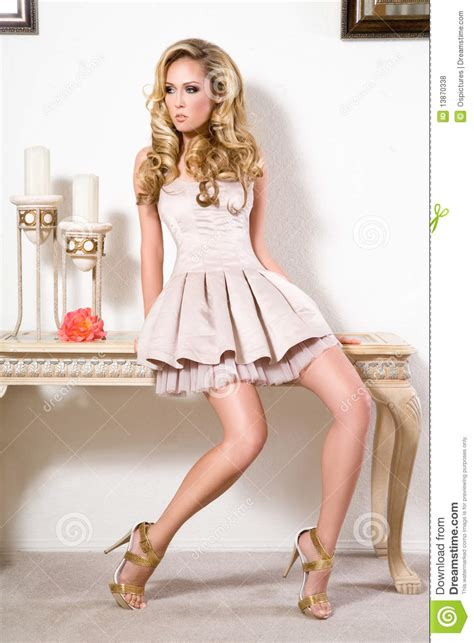 Highfashionliving by High Fashion Model In The Living Room Stock Photo Image
