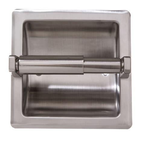 shop arista satin nickel recessed toilet paper holder at
