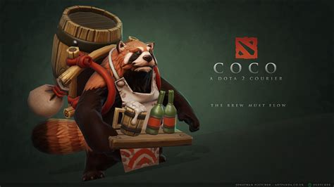 wallpaper dota 2 courier coco the courageous курьер wallpapers dota 2 wallpapers