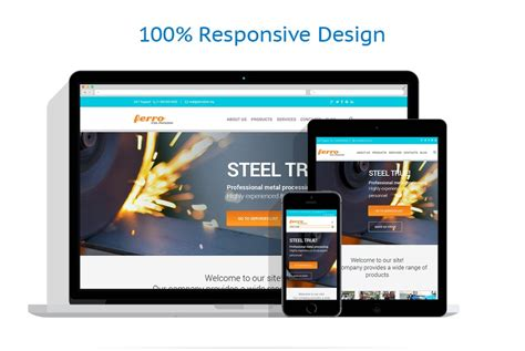 html responsive design max width steelworks responsive website template 47103
