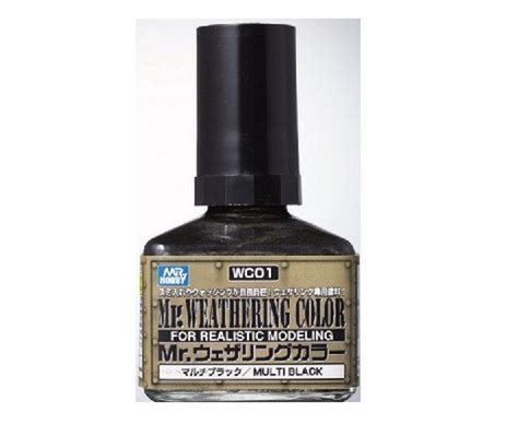 Mr Spare Bottle 80 Ml Mr Hobby mr hobby gsi wc01 mr weathering color multi black 40ml
