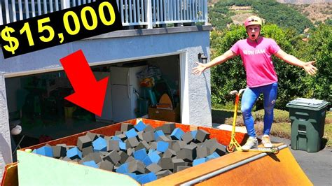 backyard foam pit my brand new 15 000 private foam pit youtube