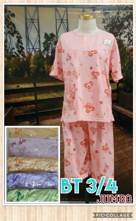 Piyama Dewasa Jumbo Tsumtsum Baju Tidur pusat kulakan baju tidur katun 3 4 jumbo dewasa murah 28ribu