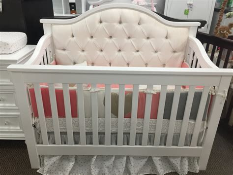 Bellina Custom Tufted Lifetime 4 In 1 Convertible Crib Tufted Baby Crib