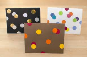 diy card idea easy peasy punch dot greeting cards running