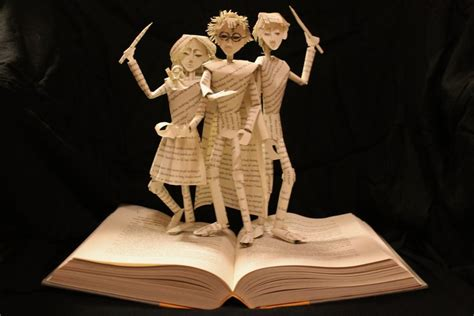 libro the art of harry harry potter book sculpture by wetcanvas on