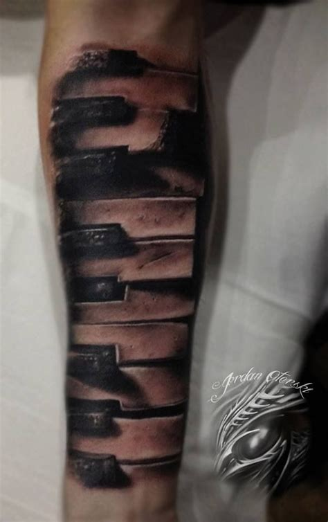 piano keys tattoo piano ideas piano