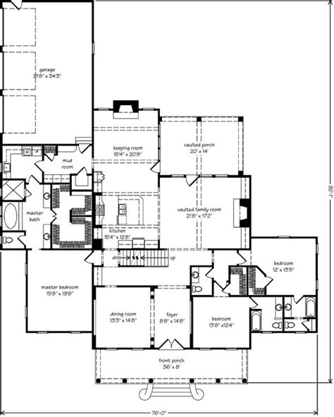 house plans with keeping rooms tallaway floor plan love the porch mudroom laundry off