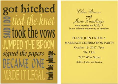 Wedding Invitations Reception Card Samples