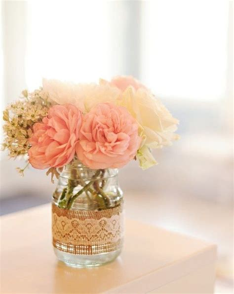 Simple Jar Centerpieces Hitched Wedding Planners Singapore Rustic Themed Wedding