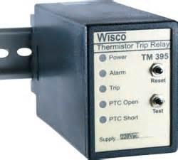 ptc thermistor to plc tm395 thermistor trip relay wisco industrial instruments
