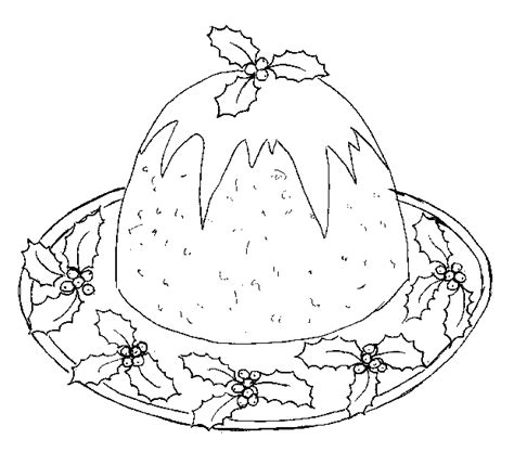 colouring pages christmas pudding free coloring pages of pudding