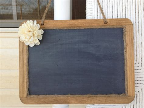 hanging framed shabby chic rustic chalkboard 7x10 size