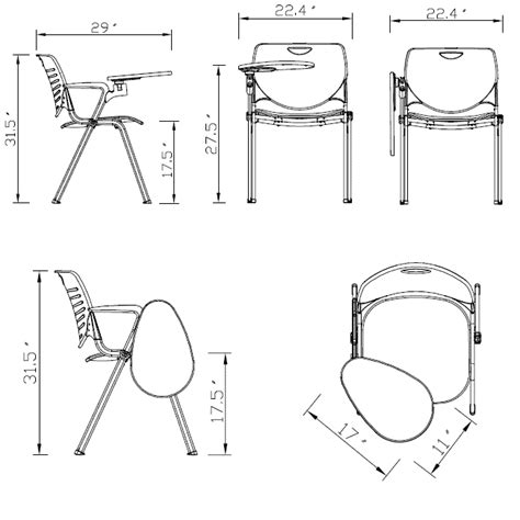 desk chair size smith system foldaway tablet arm chair left