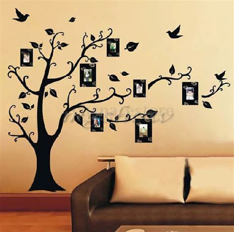 wall decor stickers tree diy home family decor photo black tree removable decal