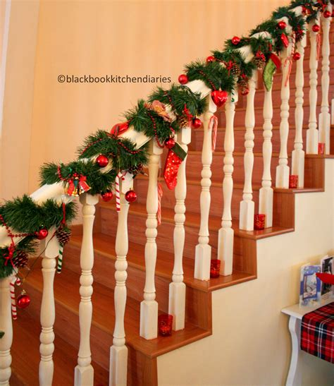 christmas time banisters holidays and christmas time