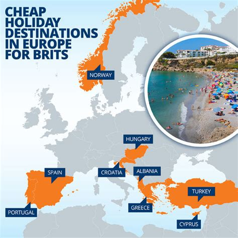 mapped the best value european holiday destinations