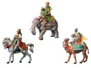 5 fontanini magi fontanini nativity 5 quot scale three on animals wise magi ebay