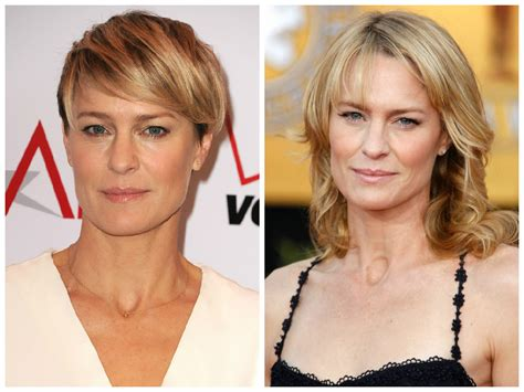 robin wright s hair color change in house of cards celebrity long or short hair which do you prefer