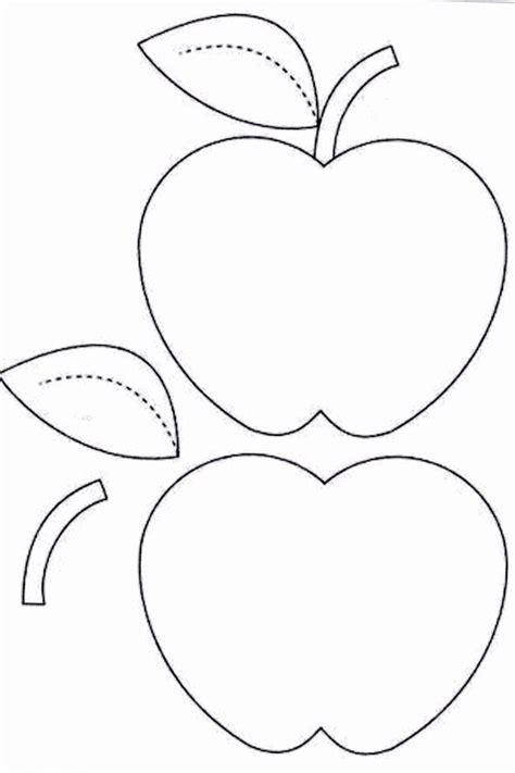 Apple Template Coloring Pages Basic Patterns Templates For Crafts Pinterest Apple Apple Pages Card Template