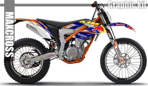 Ktm Freeride Canada Maxcross Graphics Kit Bull Style Sticker Decals For Ktm