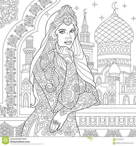 freehand filigree drawing by joshua zentangle stylized turkish stock vector