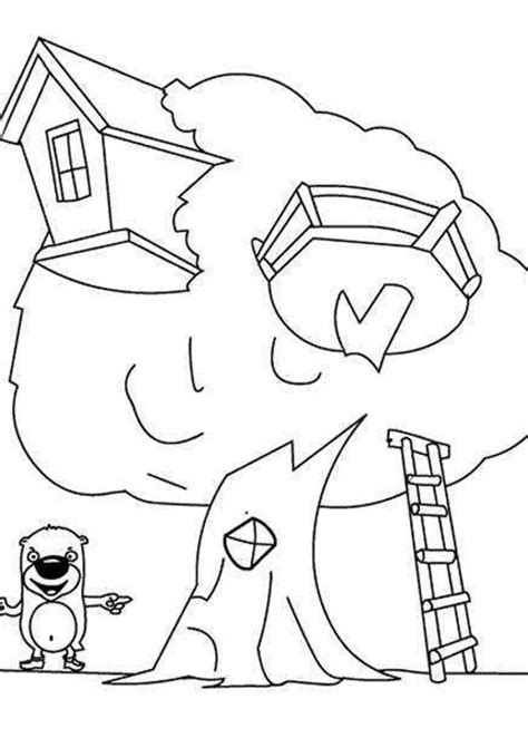 A House Coloring Page by Picture Of A House Coloring Home