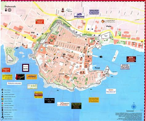 croatia map large dubrovnik maps for free download and print high